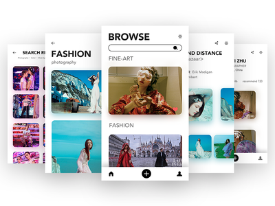 An app about photography graphicdesign interface user sharing color clean app photography ui