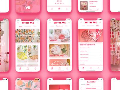 Pink!!:D interface ux ui pink app