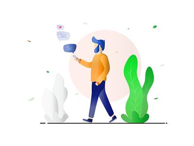 Love chat Illustration codetheorem theorem code minimal flat ios android iphone appdesign app branding vector art illustrator illustraion design ux ui