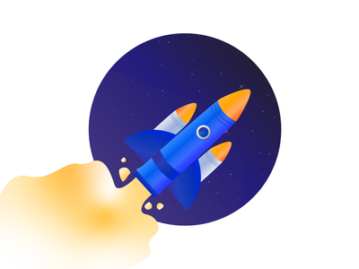 Rocket Illustration plane flight rocket branding animation web ux design codetheorem theorem code webdesign website iphone vectorart vector illustrator illustration design ux ui