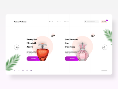 Natural Perfume website concept website design website shopping homepage webdesign logo illustration branding ux design ui