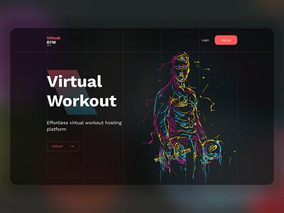 Virtual Gym - Gyming from Home virtual video app fitness workout gym codetheorem theorem code appdesign vector branding illustration dashboard website design ux ui