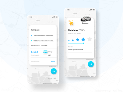 Taxi App - Payment & Review