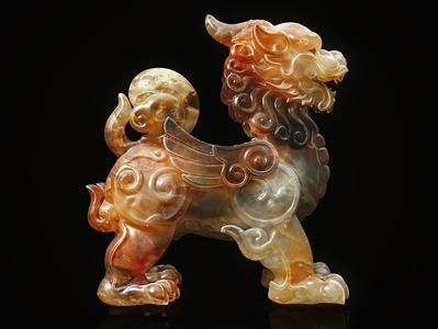 Jade Unicorn realistic myth tiger glass lion octane 3d cg jade china c4d