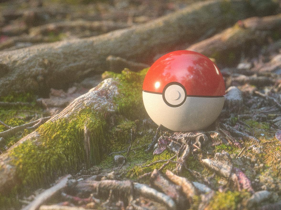 poke ball plus pokemon pokemon go 3d sun ball tree forest pokeball poke ball plus design theintro c4d