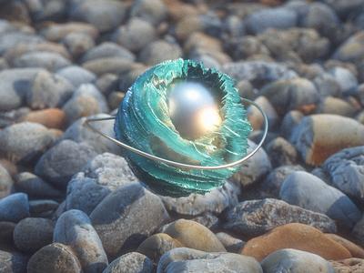 Abstract crystal ball