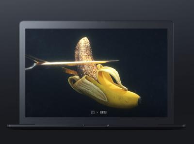 OC daily rendering—banana mac octane render 3d realistic gold diablo gothic cutter fruit banana cg c4d