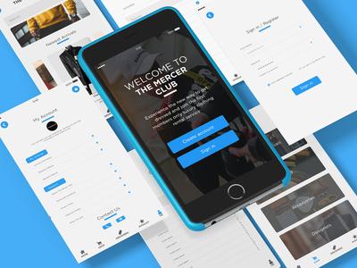 Mobile application design.