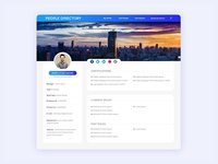 Ui design for employee directory.
