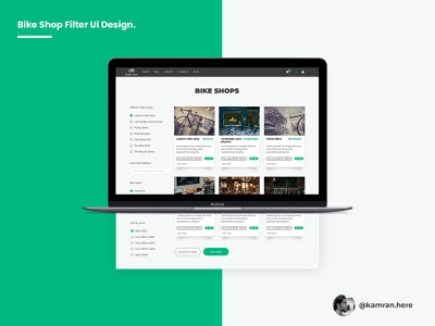 Bike shop filter Ui design for a Client. web ux ui branding uidesign illustrator clean vector design section filter bike