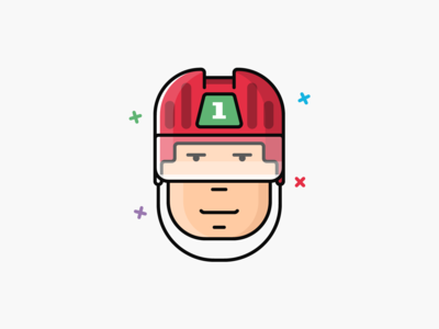 #3 Hockey player face icon