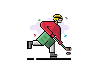 #4 Hockey player icon illustration svg web app icon design iconography icon winter sport hockey player