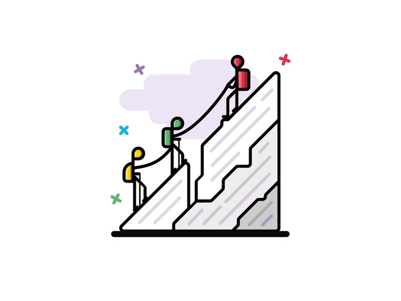 #12 Mountaineering icon winter vector iconography illustration icon design icon web app team sport mount alpinism
