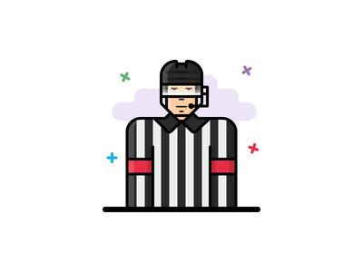 #15 Hockey referee icon
