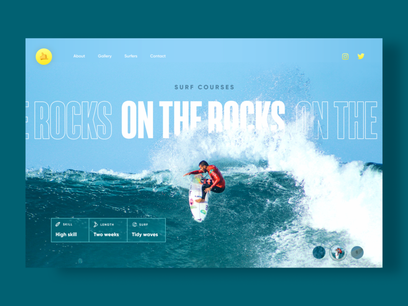 Surf Courses - Web Design Concept webdesign shaka courses surf web summer ux ui interface figma ecommerce design 2020