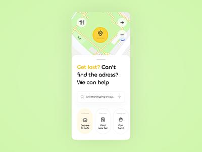 029 Map dailyui029 dailyui adaptive mobile app navigation location map logo illustration 2020 ecommerce interface figma design ux ui