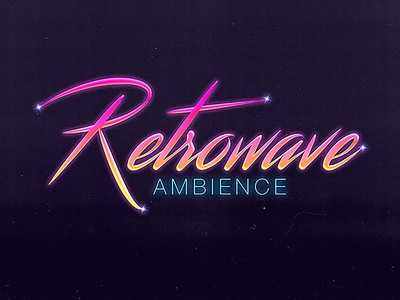 Text Effect retrowave 80s text effect typography photoshop gradient graphic design illustration design graphic designer