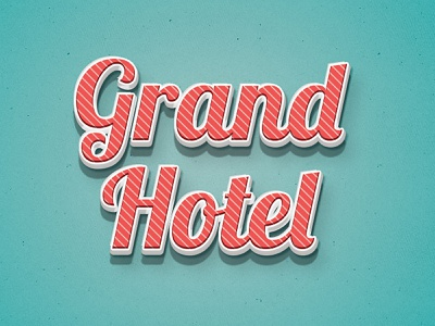 Text Effect graphic  design photoshop vintage hotel branding text effect typography illustration design graphic designer