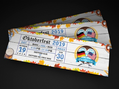 Ticket Design graphic design ticket design event design oktoberfest photoshop print design illustration design graphic designer