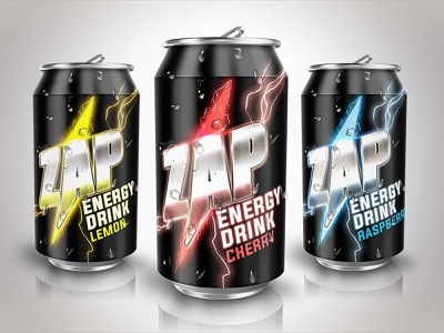 Zap Energy Drink graphic design packaging mockup energy energy drink packaging design package design packaging print design illustration design graphic designer