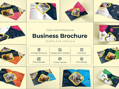 Business Magazine Brochure Template