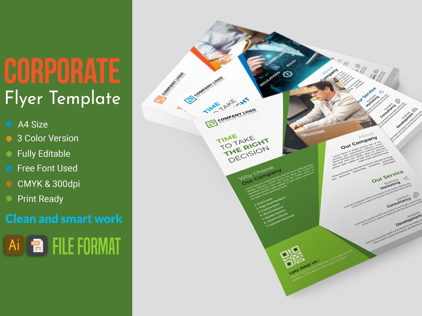 This is Professional Corporate Flyer Template You