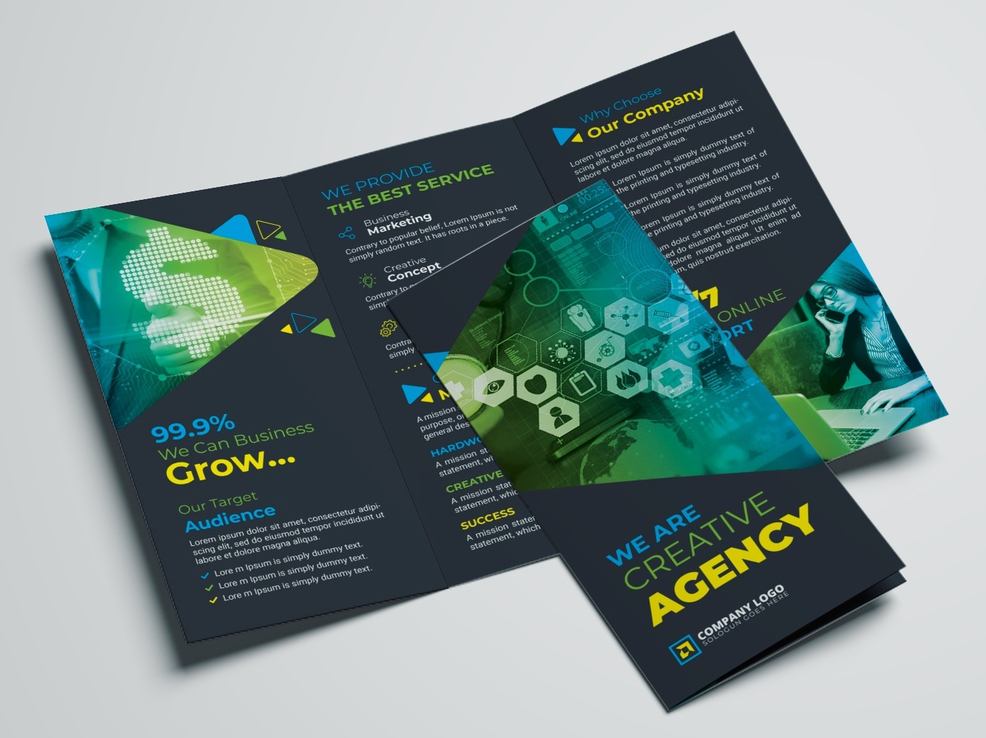 corporate trifold brochure template by zahid hossain alif dribbble