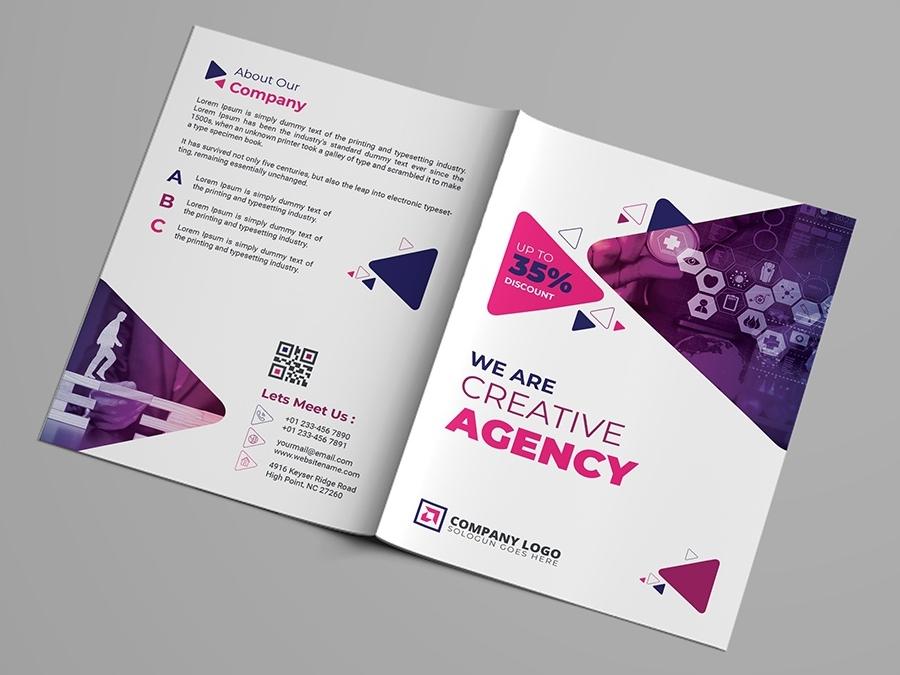 corporate bifold brochure template by zahid hossain alif dribbble