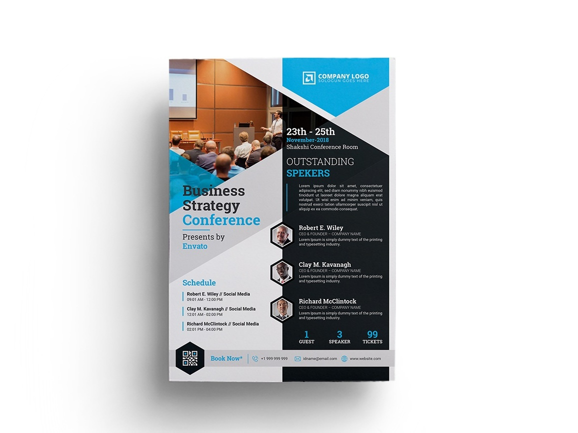 business conference flyer template by zahid hossain alif dribbble