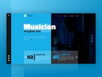 Musician Portfolio Site Cover