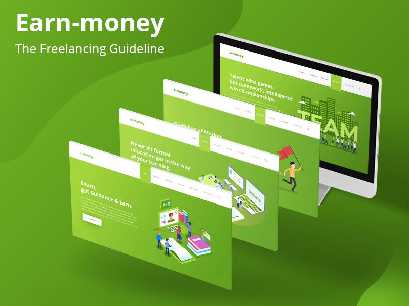 Freelancing Guideline Website guideline freelancing learning app case study landing page design vector illustration ui design website design kit ui  ux
