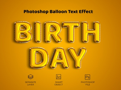 Birthday Balloon Effect Text