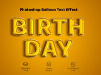 Birthday Balloon Effect Text