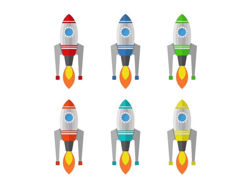 rocket technology travel space vector illustration vector rocket