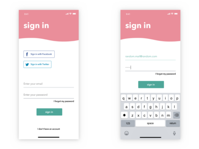 DailyUI 01 - Mobile sign up page