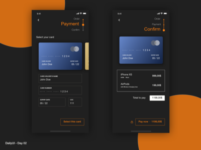 DailyUI 02 - Credit card checkout