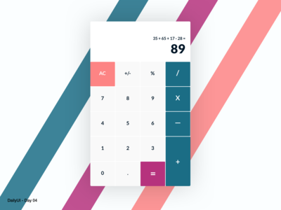 DailyUI 04 - Calculator