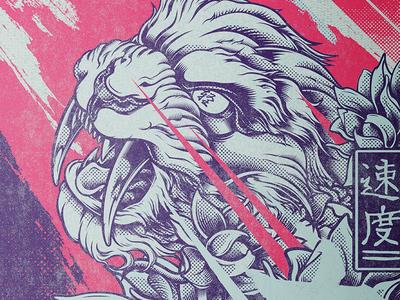 Sabertooth Mash-up Illustration