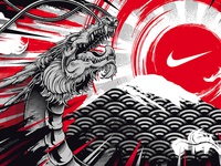 Nike Dragon - Tokyo 2020 Mural Design