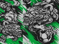 Japanese Football Lions