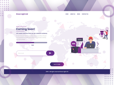 Coming Soon Website Page