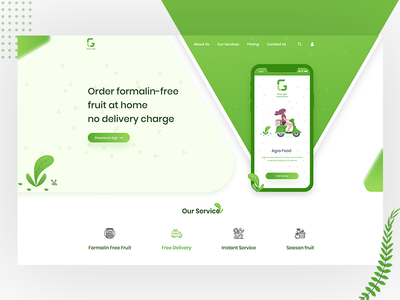 Food Delivery App Landing Page
