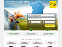 Landing Page Car Transfer Service Variation 1