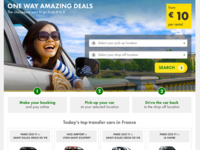 Landing Page Car Transfer Service Variation 2 Top