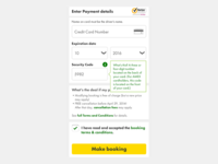 Mobile Site Payment Form