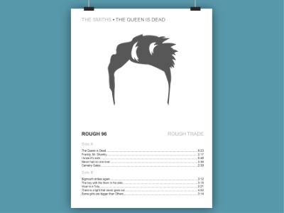 The Smiths - The queen is dead, minimalistic poster