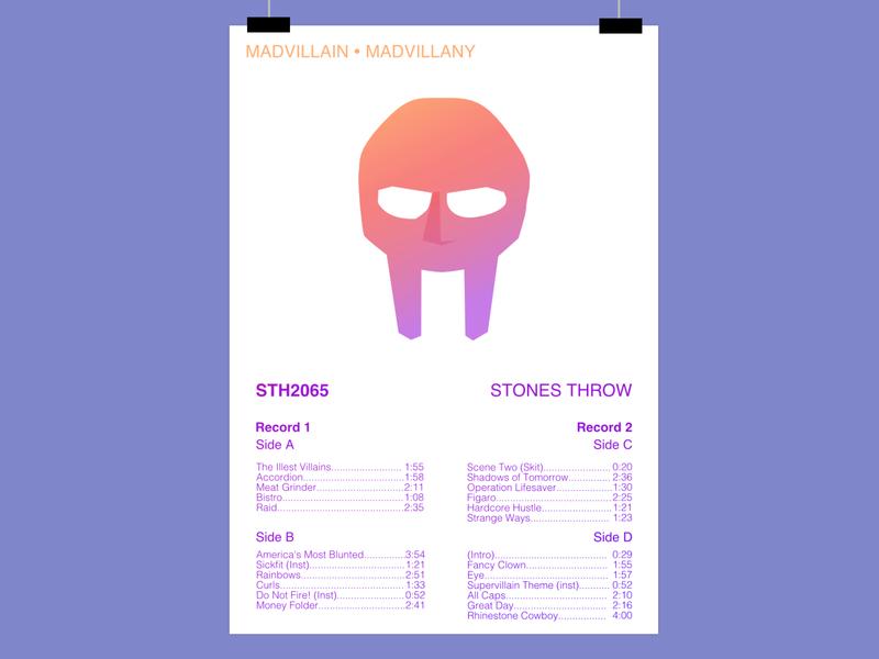 Madvillain - Madvillainy, minimalistic poster