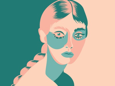 Bug Eyed Babe digital illustration art graphic design illustration