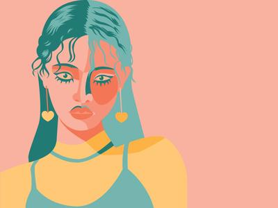 Heart Earrings > Heart Eyes vector art design graphic design illustration digital illustration