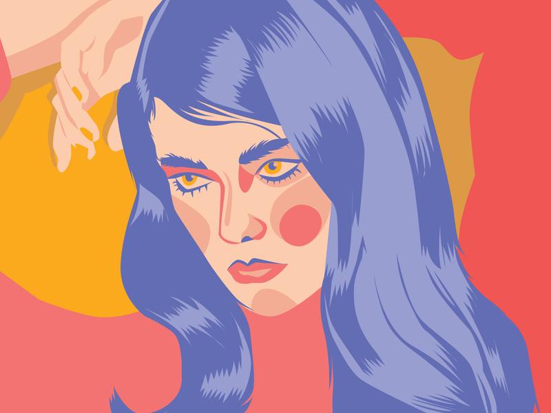 Hey Dribbble! illustrator colorful vibrant flat vector design graphic design digital illustration art illustration debut